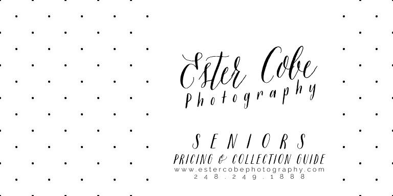 Ester Cobe Photography Senior Pricing & Collection Guide