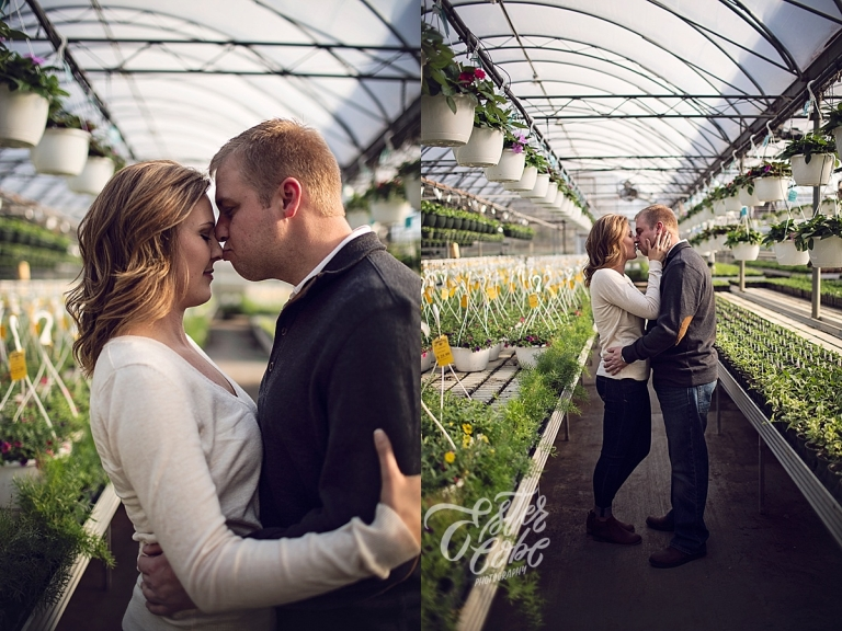 Green House Engagement, Spring Engagement Session, Michigan Wedding Photographer