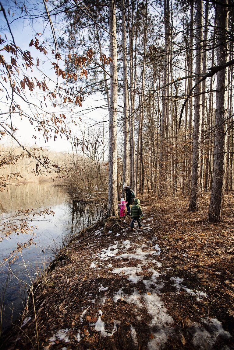 Documenting a family hike in Michigan
