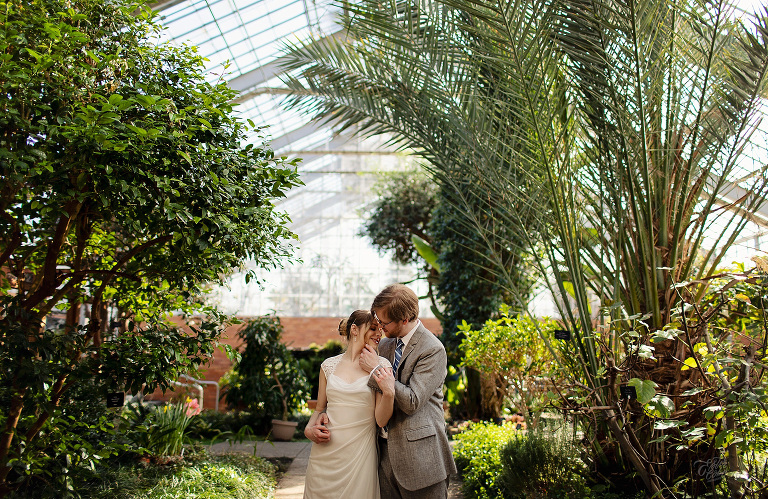Botanical Garden Engagement Session in February